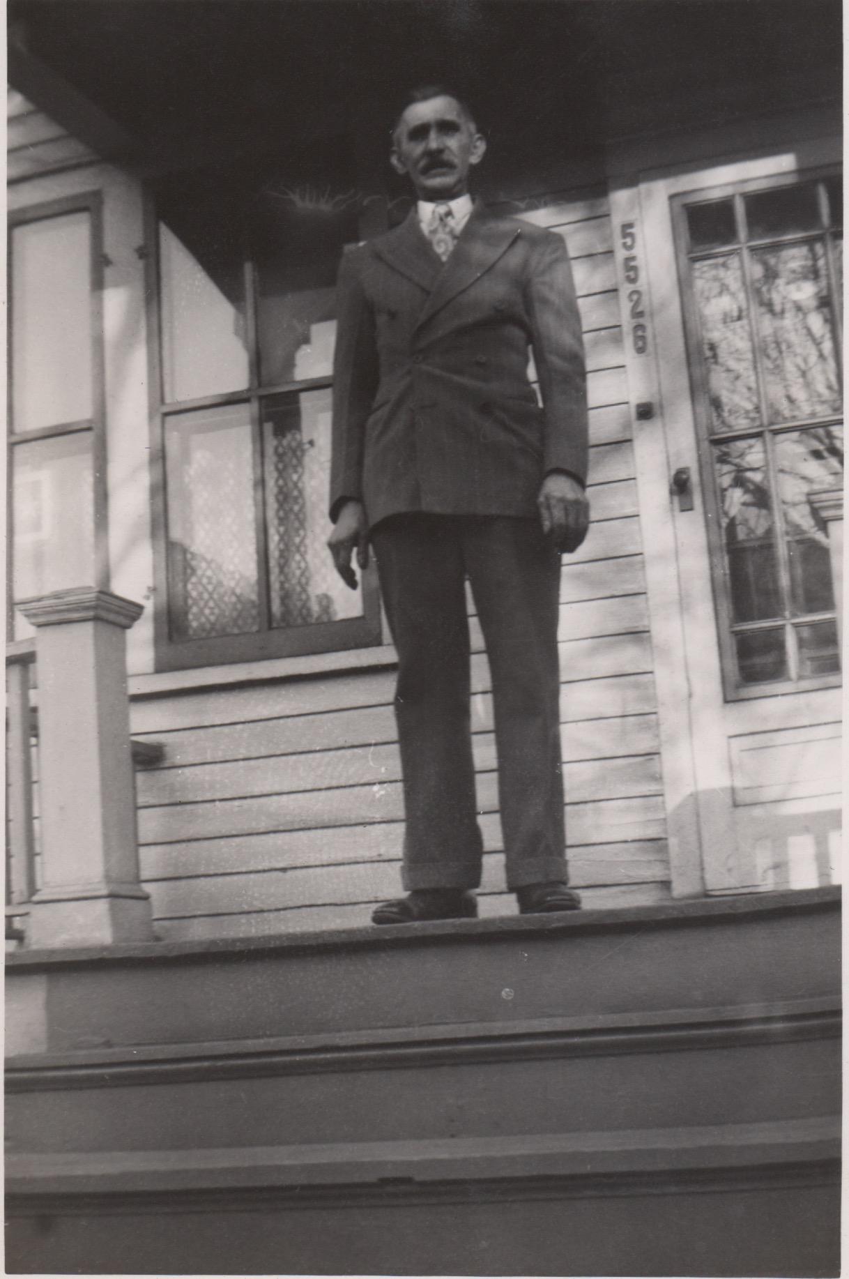 Adam at 5526 Dubois St. - late 1940s