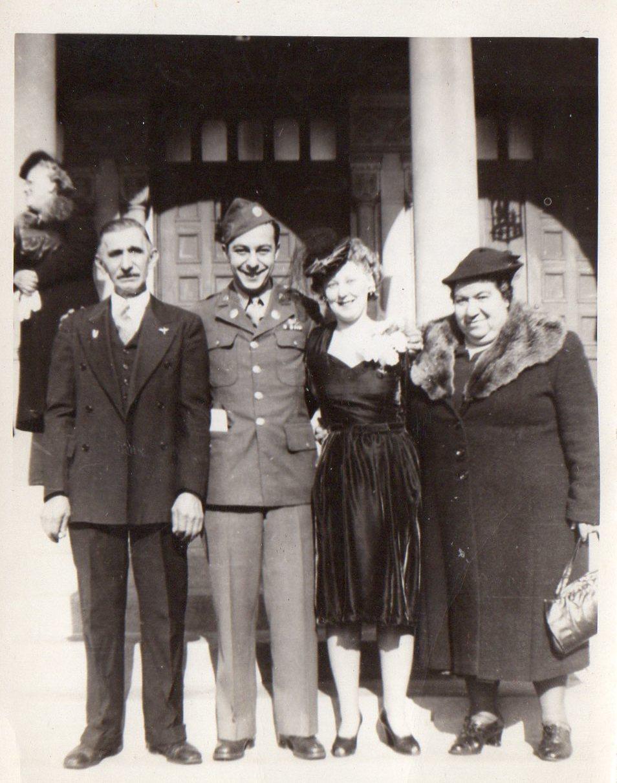 James and Claire (Pawlowski) Halvangis Wedding Day - October 28, 1944