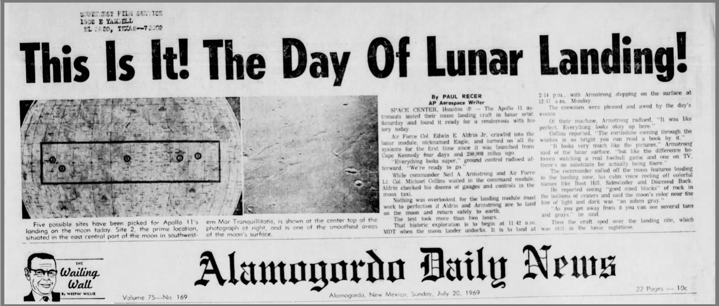 Alamogordo Daily News - July 20, 1969