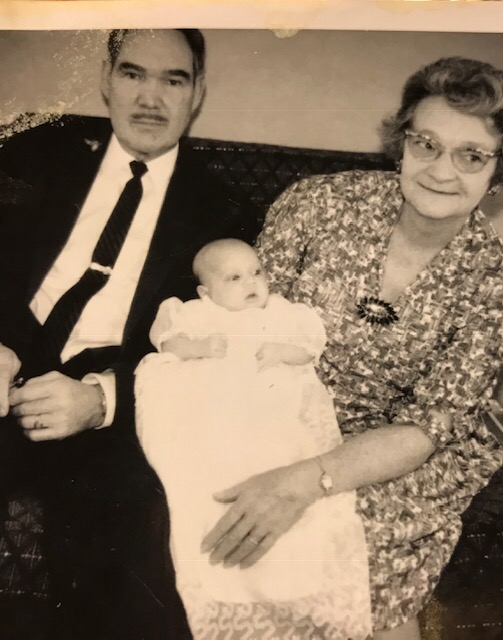 Thelma with husband and grandson