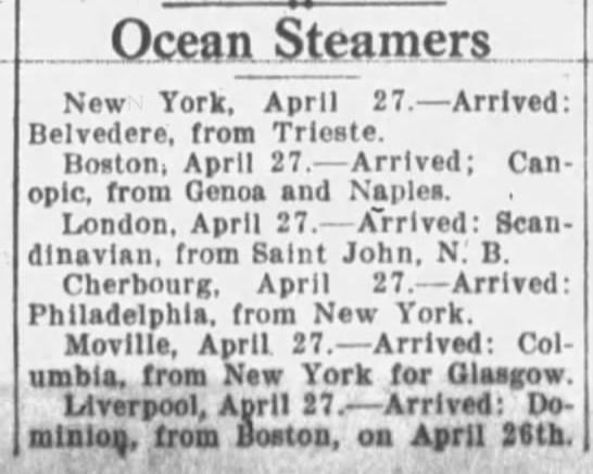 Buffalo Morning Express - April 18th, 1920