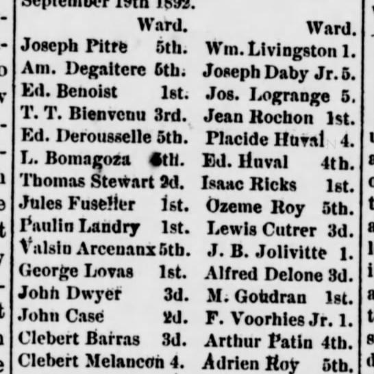 The Weekly Messenger, St. Martinsville, LA - July 16, 1892