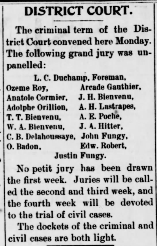 The Weekly Messenger, St. Martinsville, LA - January 25, 1896