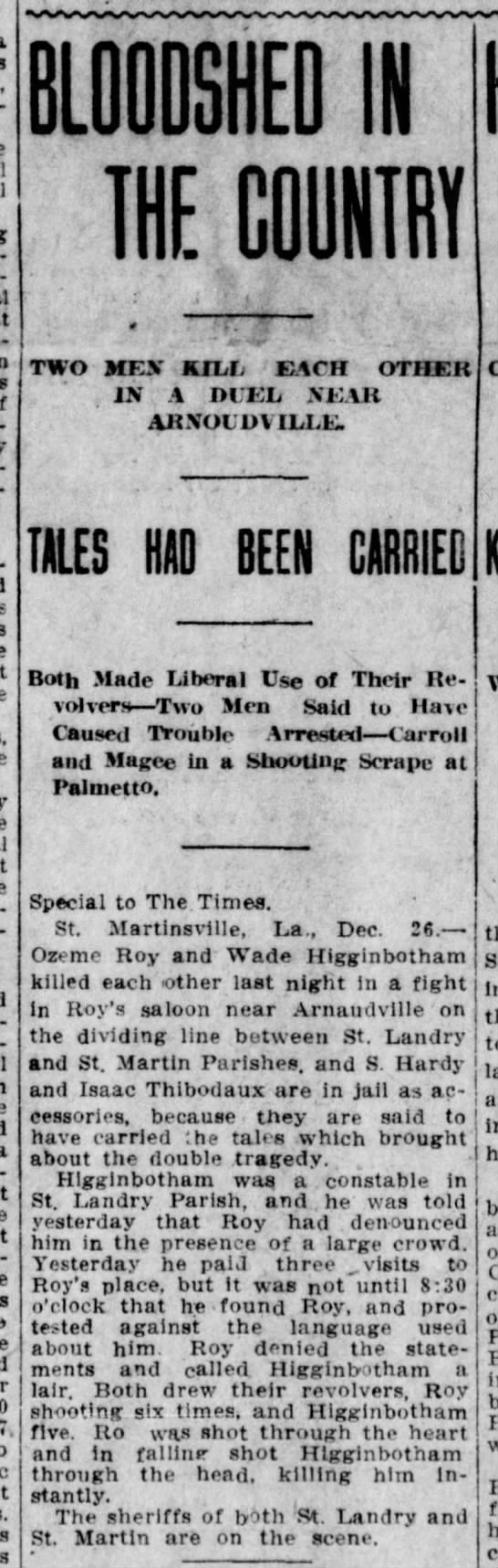The Times, Shreveport, LA - December 27, 1909