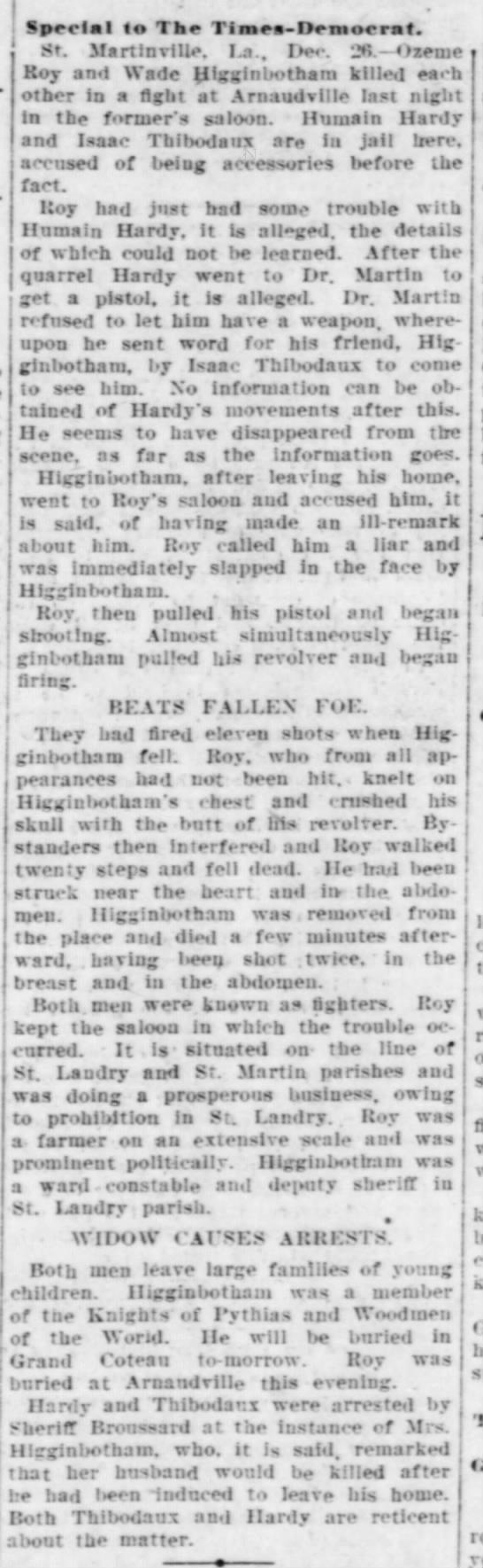 The Times-Democrat, New Orleans, LA - December 27, 1909