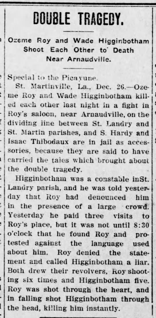 The Lafayette Advertiser, Vermilionville, LA - December 28, 1909