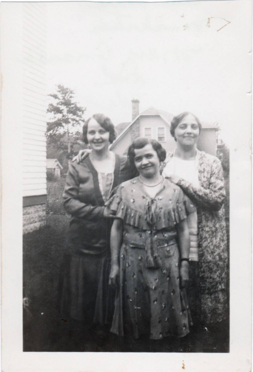 """""""The Three Musketeers. Mary, Amanda, and Ida"""" was written on the back of this photo, probably by my great grandmother, Ida (left). Mary is in the middle and Amanda the right."""