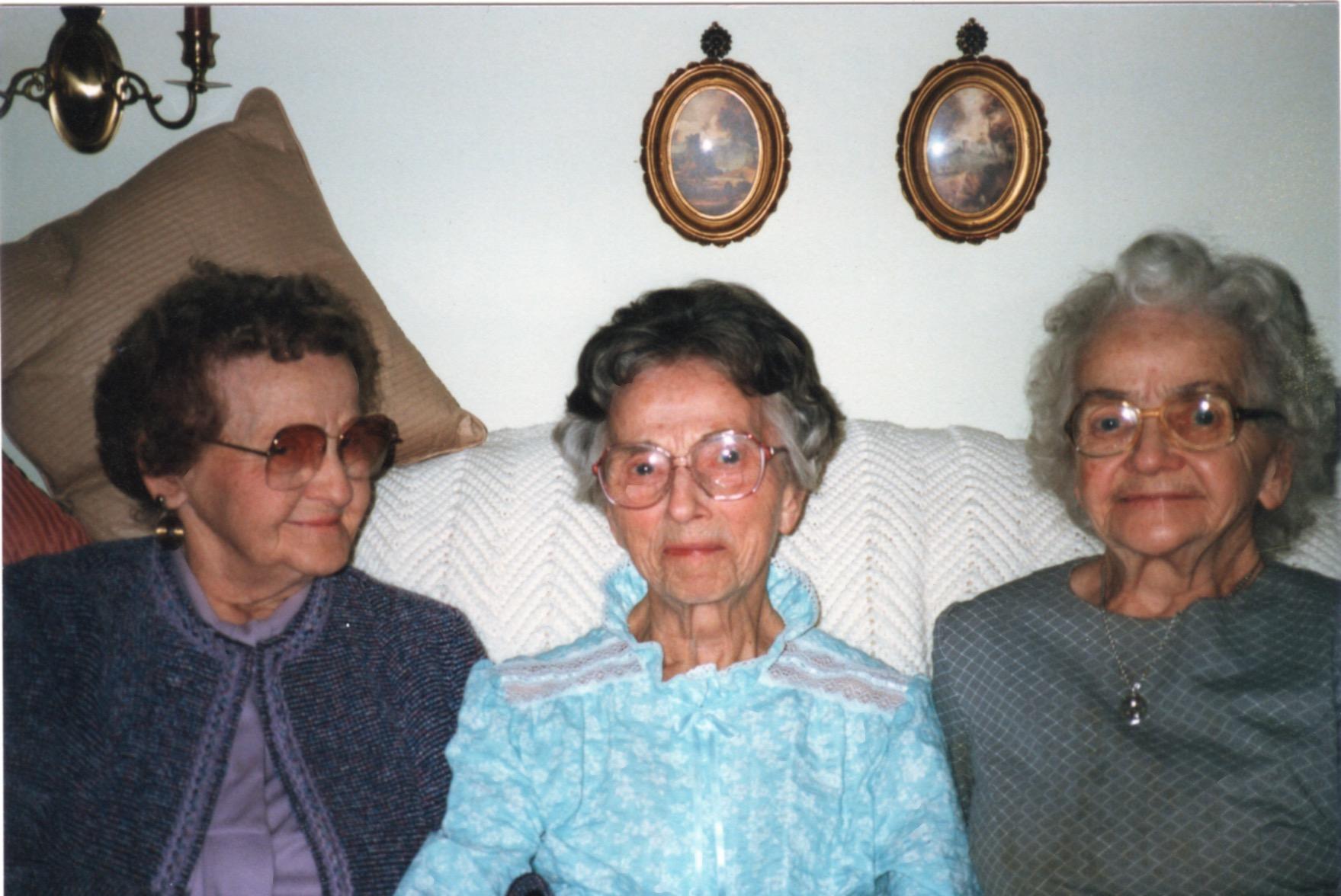Left to right: Ida, Amanda, Mary