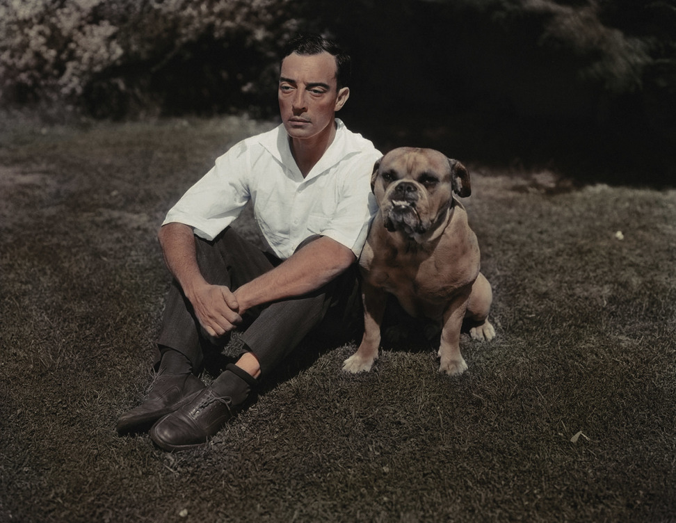 Buster Keaton and His Dog