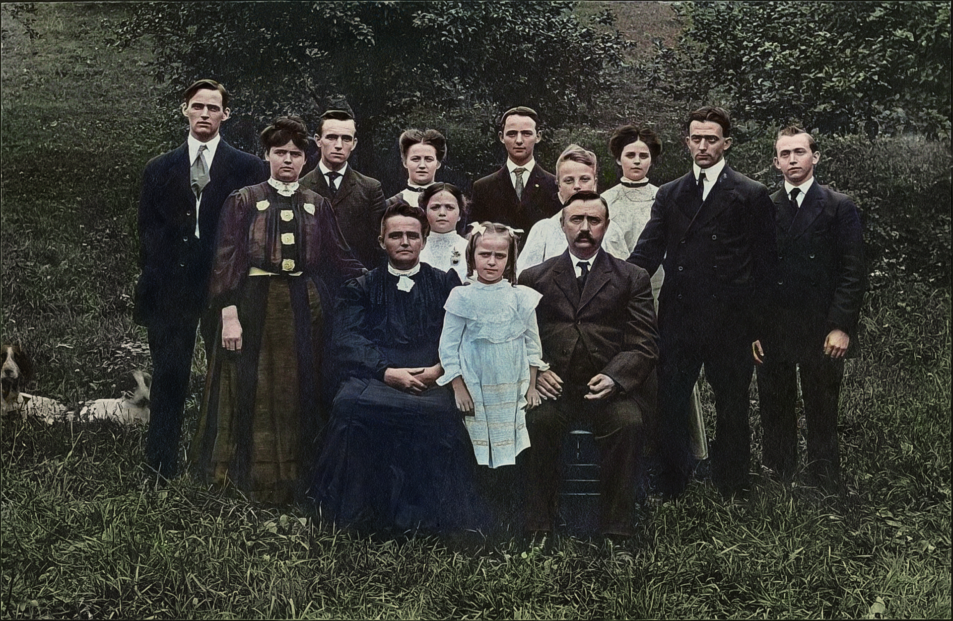The Rhoads Family of Cambria County, Dunlo, PA (abt. 1905)