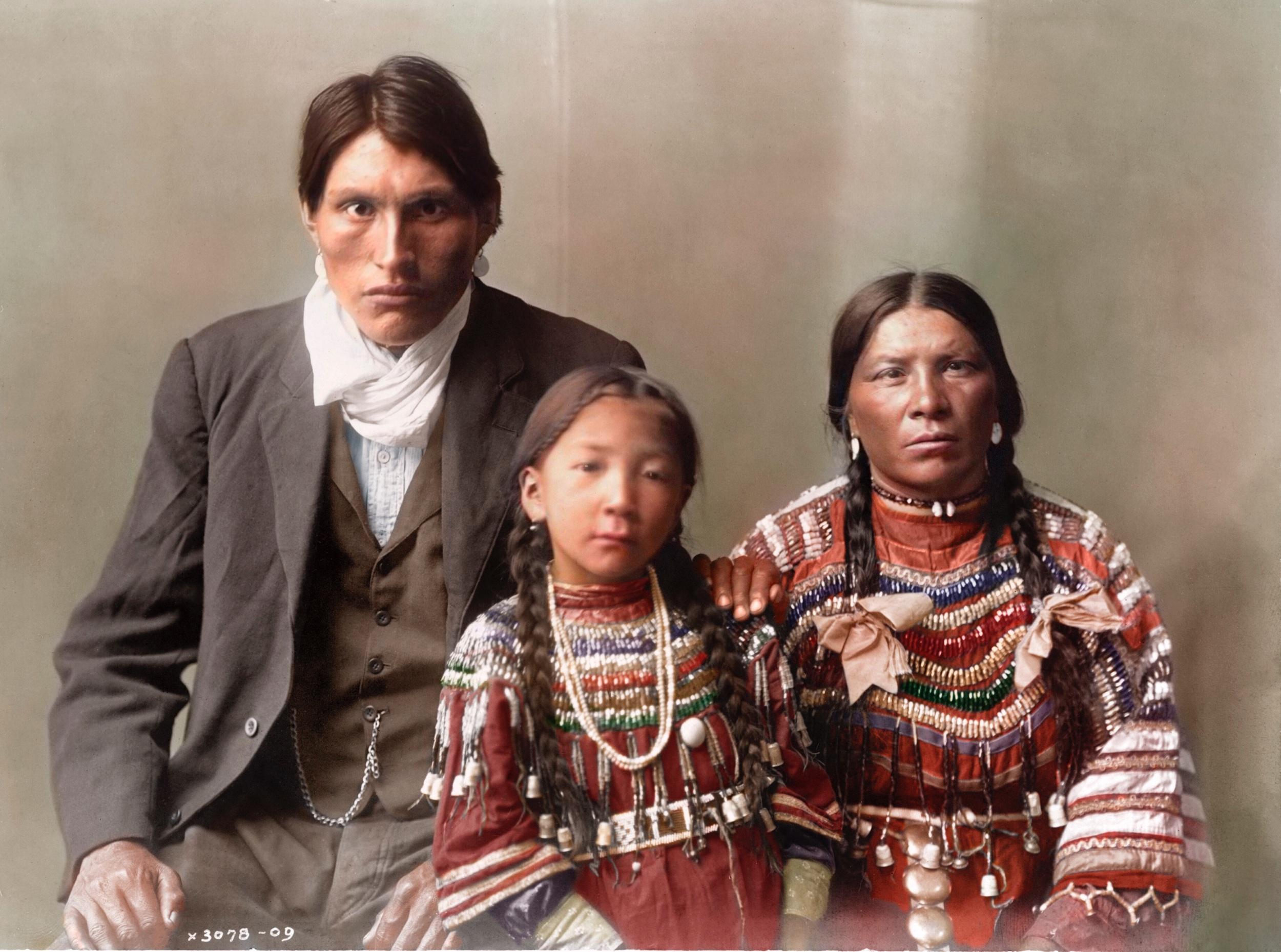 The Piegan Family of Reuben Black Boy (1910)