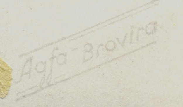 Agfa-Brovira photo paper used from 1945 through late 1950s