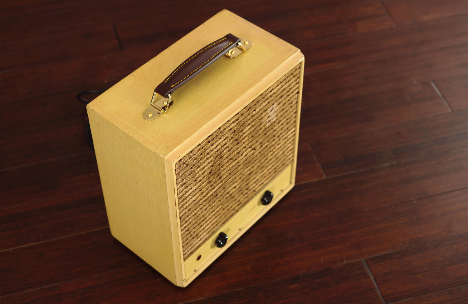 Sears Hi Fi Amp on Wood Floor