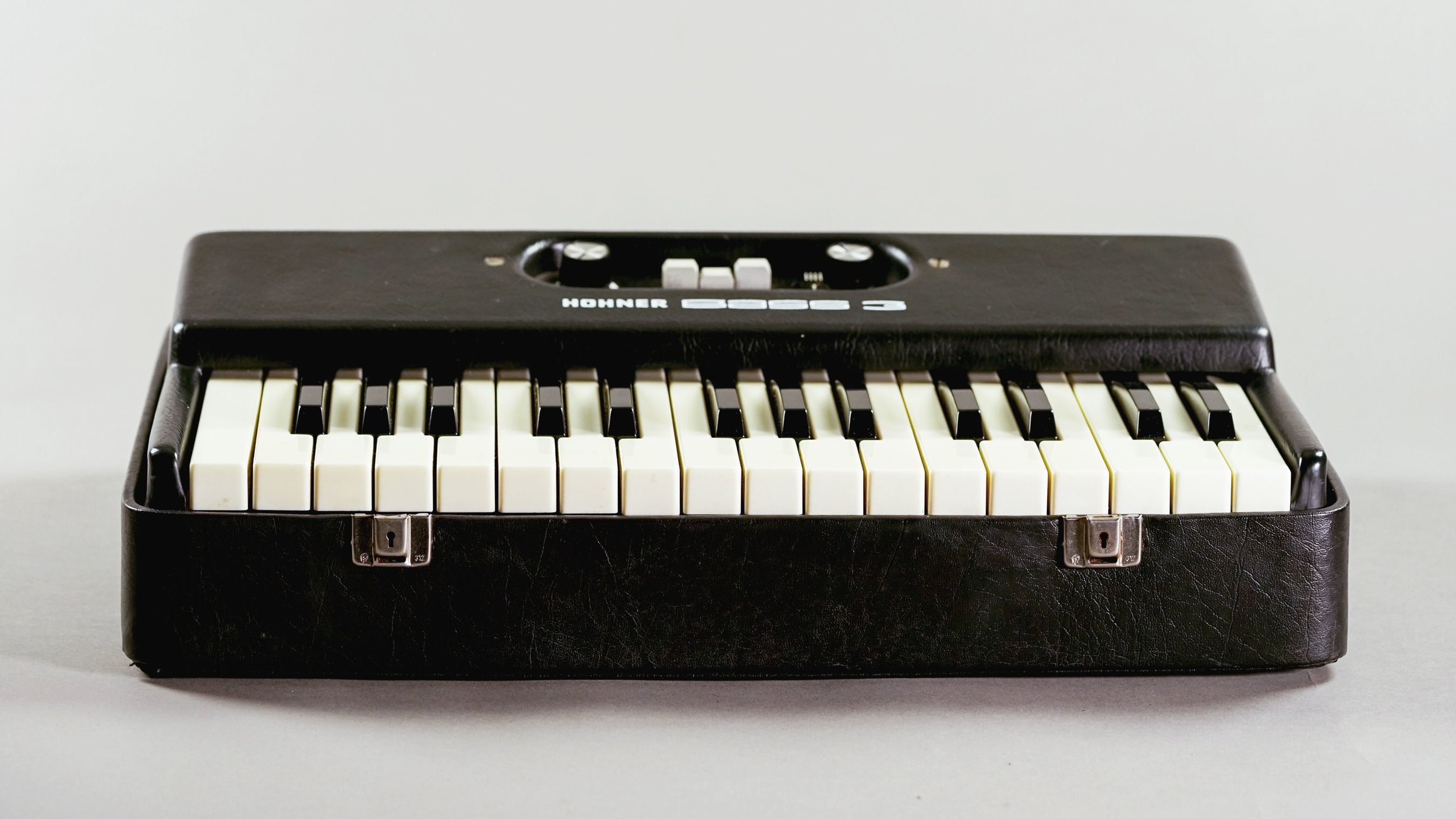 This Hohner Bass 3 is a vintage monophonic synth. it sounds great through a preamp.