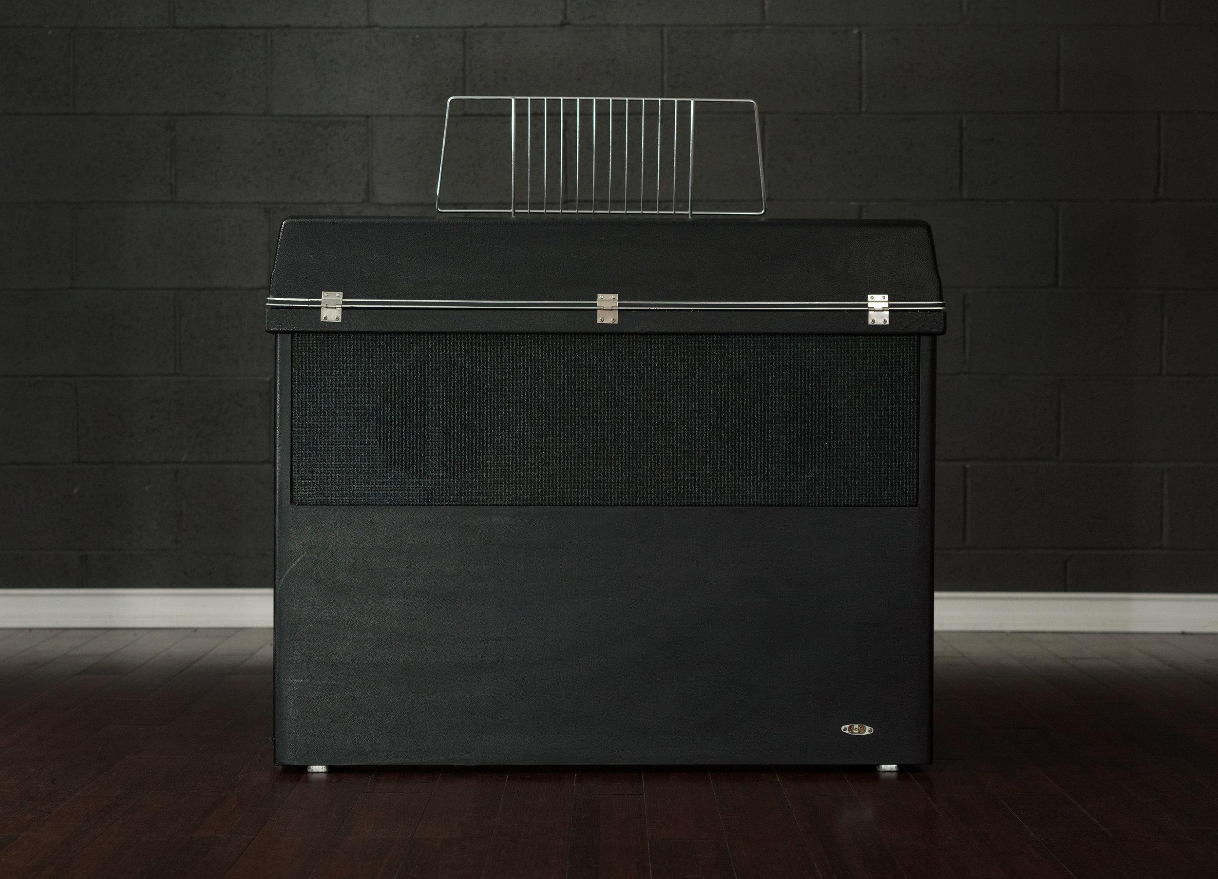 Back of Wurlitzer 203 electronic piano