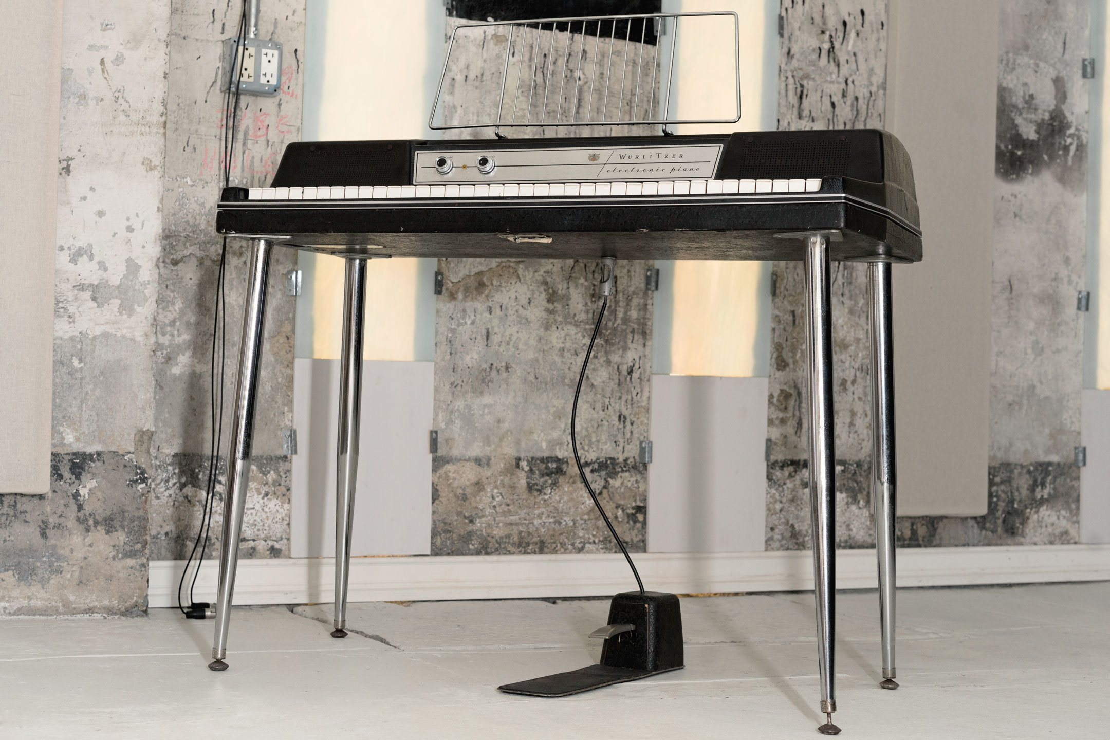Wurlitzer 200a electronic piano with sustain pedal