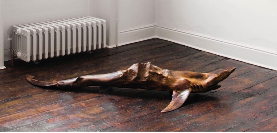 Dorothy Cross  -  Everest Shark , 2013, Bronze, 28 x 85 x 185 cm