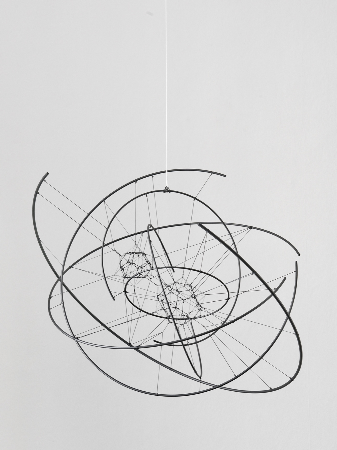 Tomás Saraceno  -  Zonal Harmonic 2N 60/6 , 2017, Carbon fibre, rope, glue