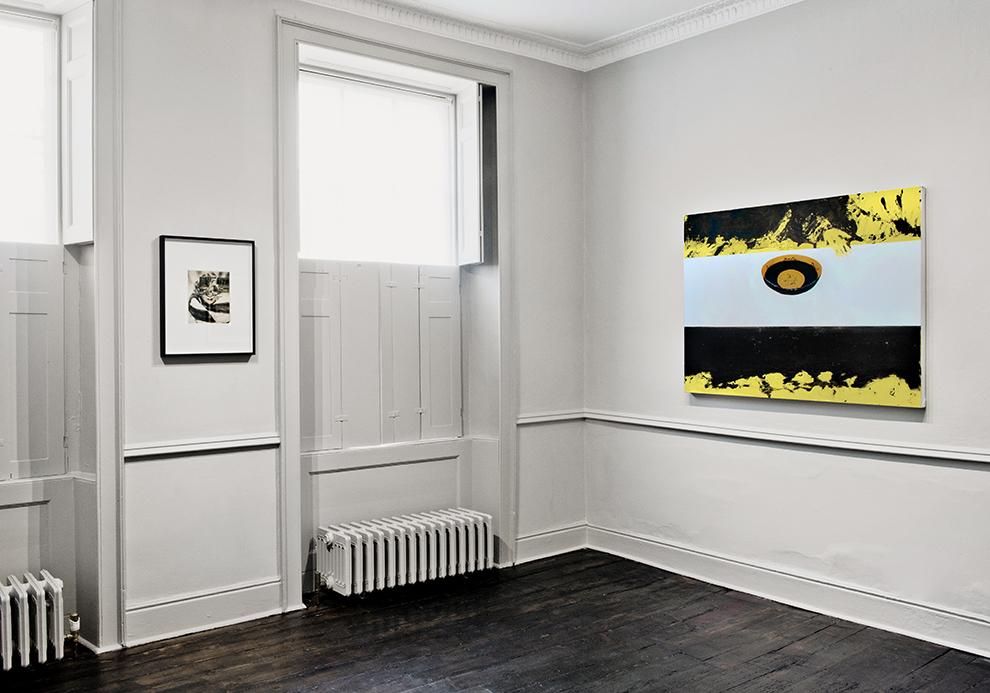 Installation view -John Stezaker, Dexter Dalwood