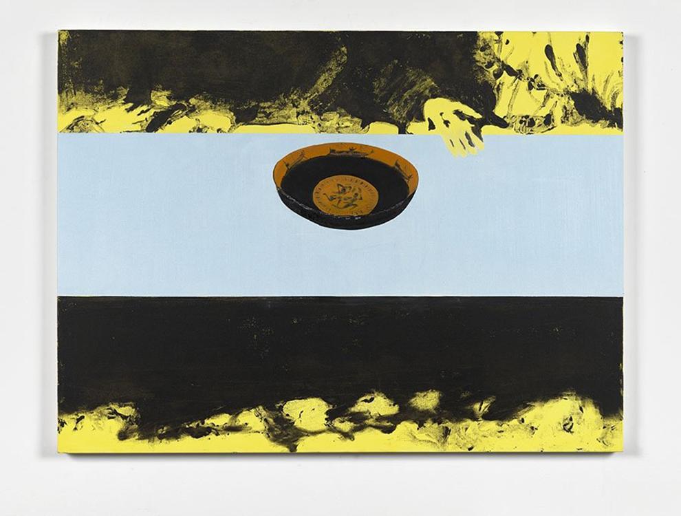 Dexter Dalwood , Greek Bailout , 2015, oil on canvas, 97 x 130 cm