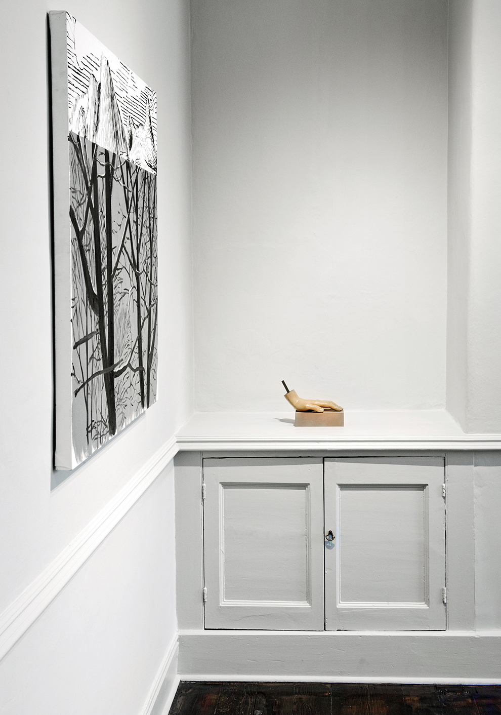 Installation view -Dexter Dalwood, John Stezaker