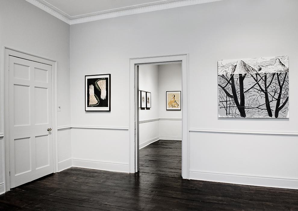 Installation view -Mamma Andersson, Dexter Dalwood, in far room John Stezaker, Mamma Andersson