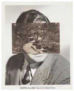 John Stezaker , Mask (Film Portrait Collage) CCXIX , 2017, Collage, 25.3 x 20.5 cm