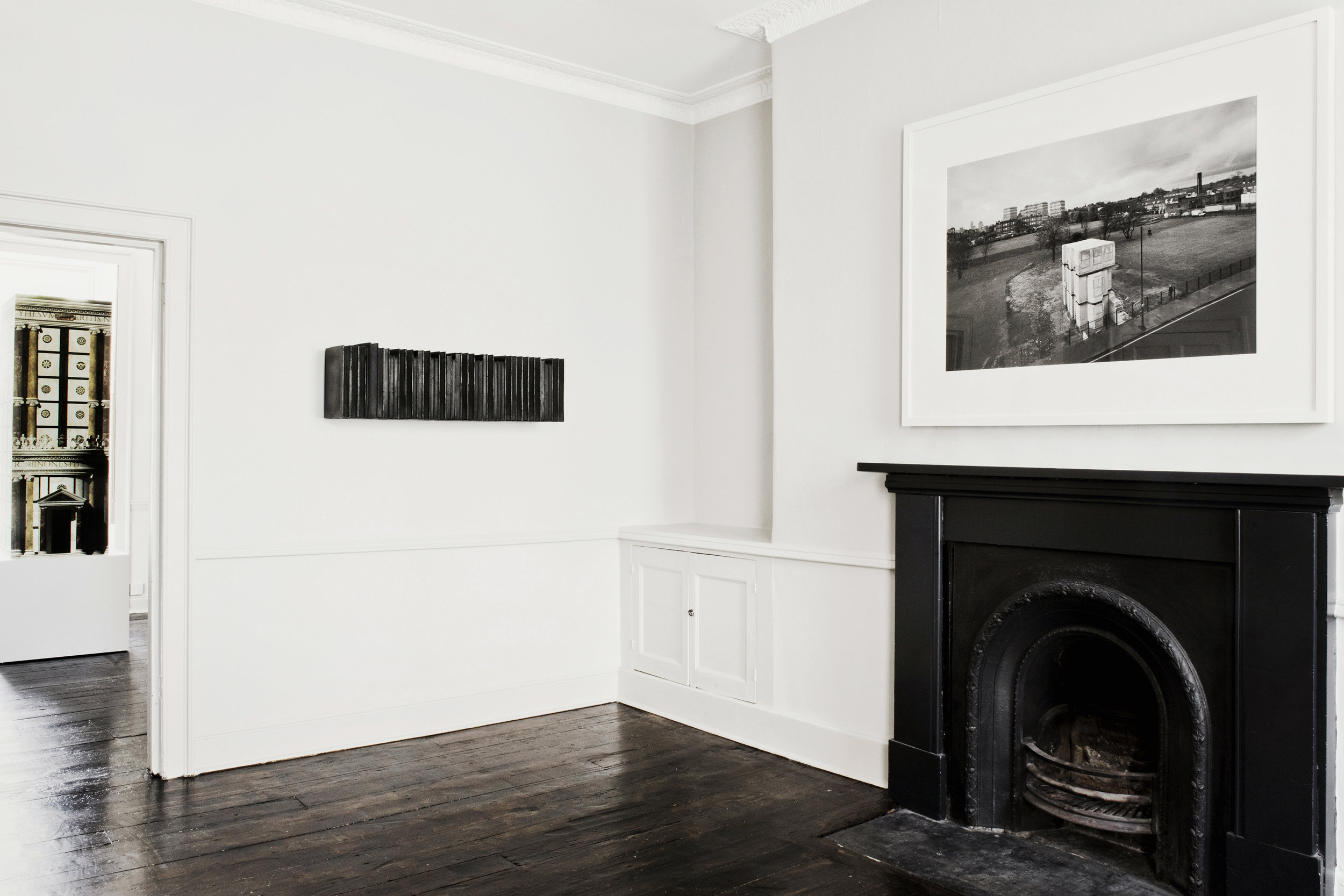 Installation view - Pablo Bronstein, Rachel Whiteread