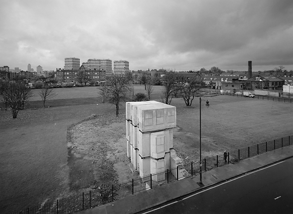 Rachel Whiteread ,   House (Rachel Whiteread 3b) , London, 1993, photographed by John Davies Silver gelatin print on fibre-based paper archival processed, 110 x 140 cm, edition of 3