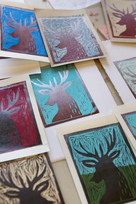 Woodcut Christmas Cards