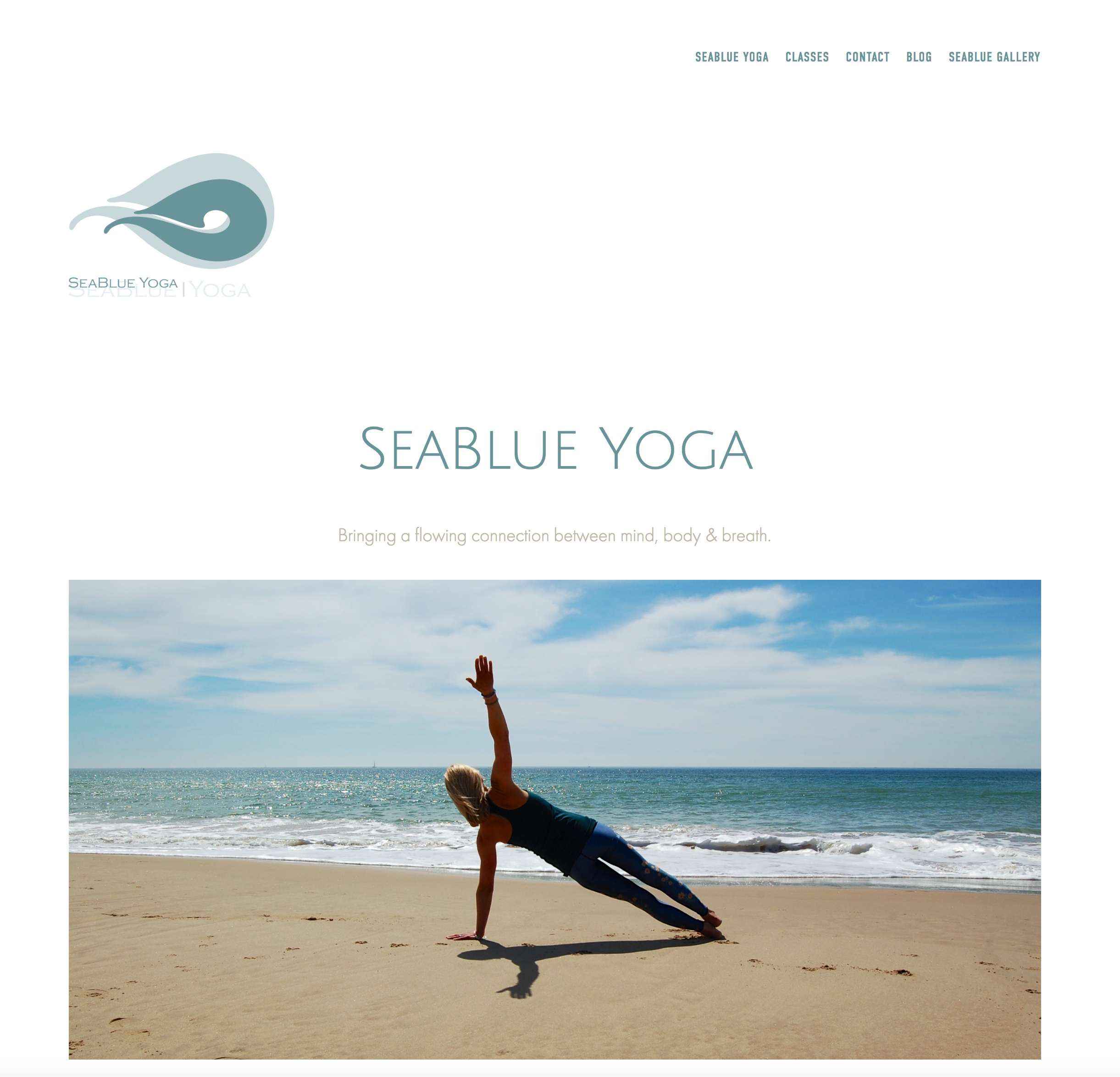 Website with Squarespace for local yoga teacher.