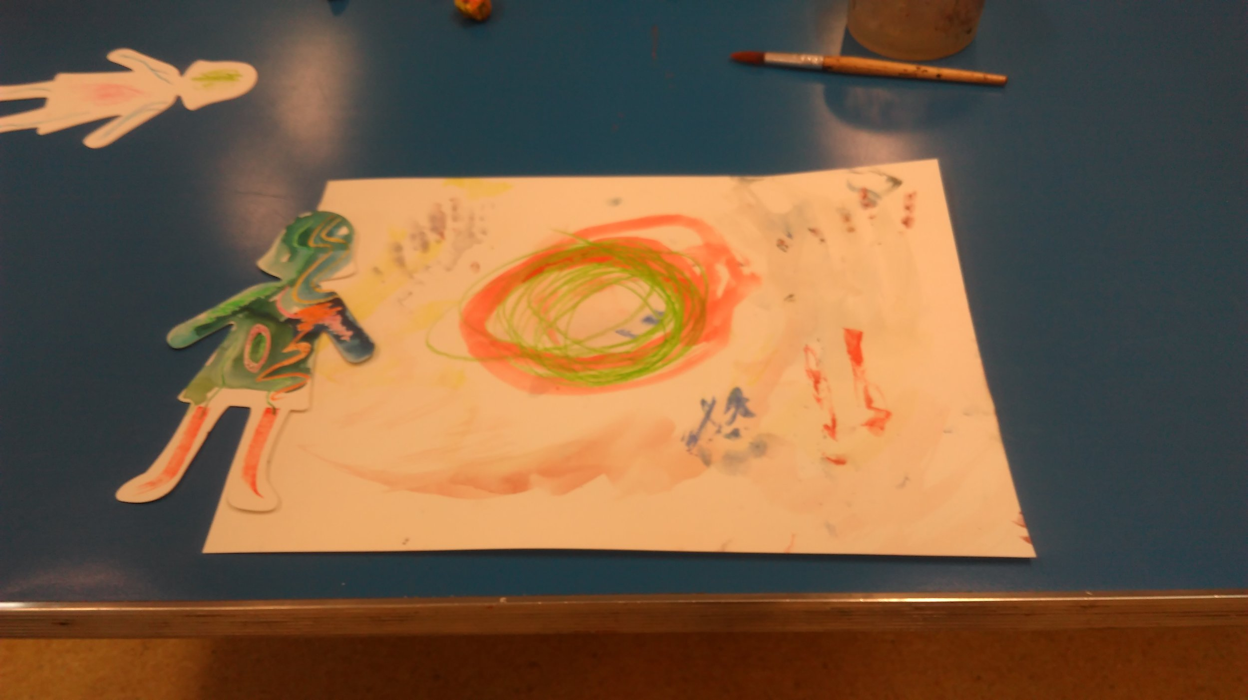 Some of the art work produced at a Primary Saturday workshop
