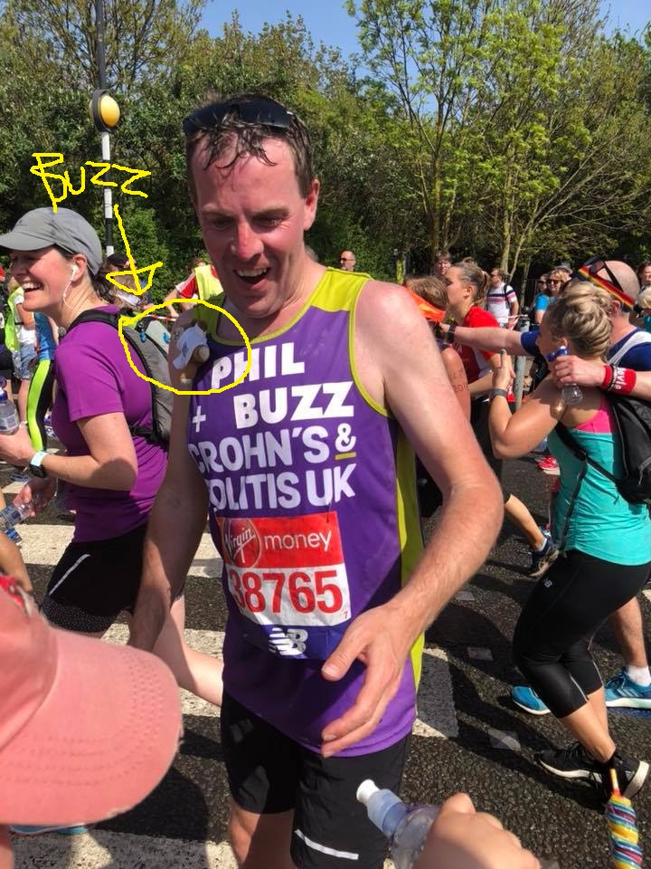 Buzz and Phil at the London Marathon
