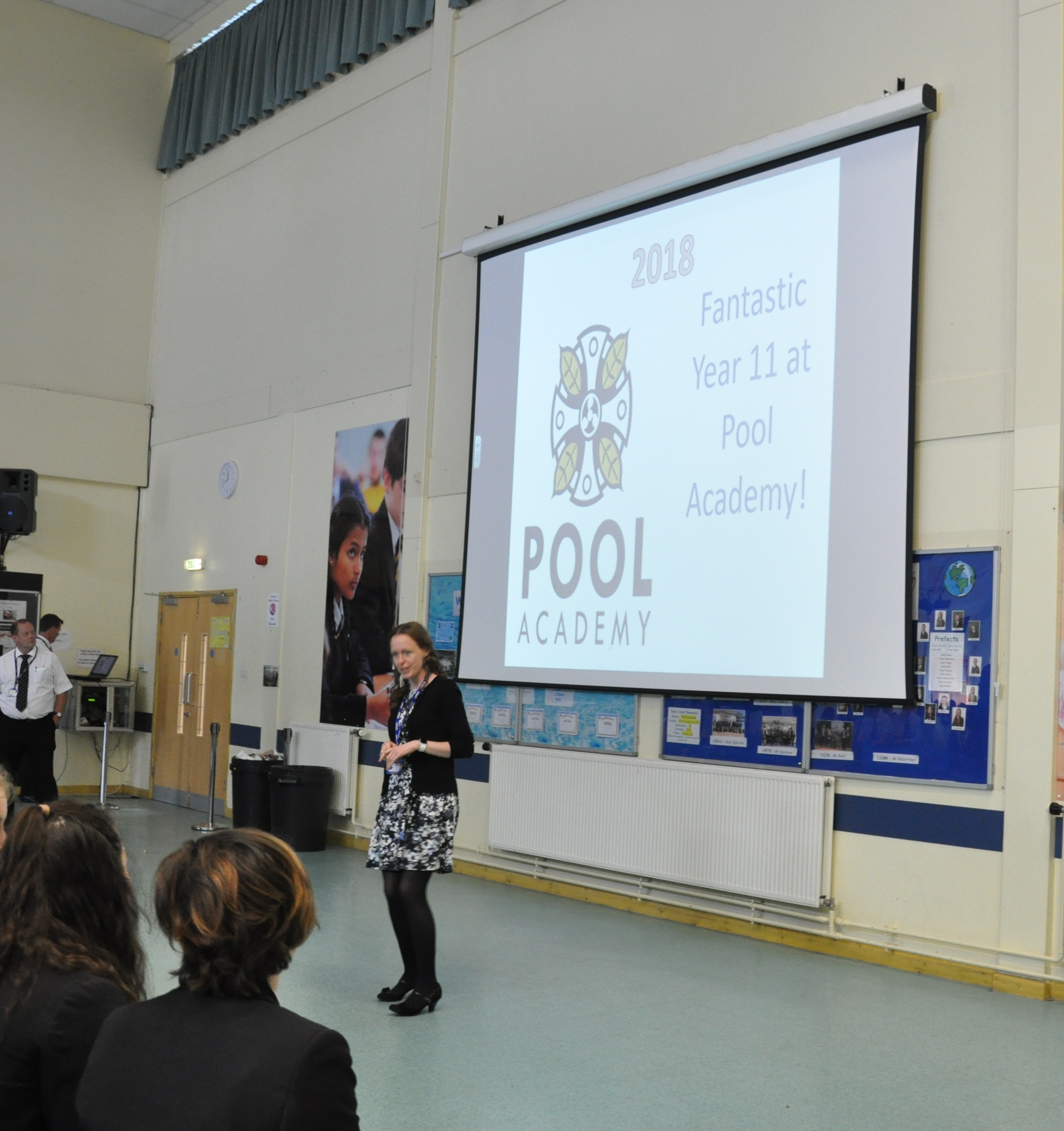 """Principal Claire Meakin telling Year 11 students: """"""""I am incredibly proud of you all."""""""