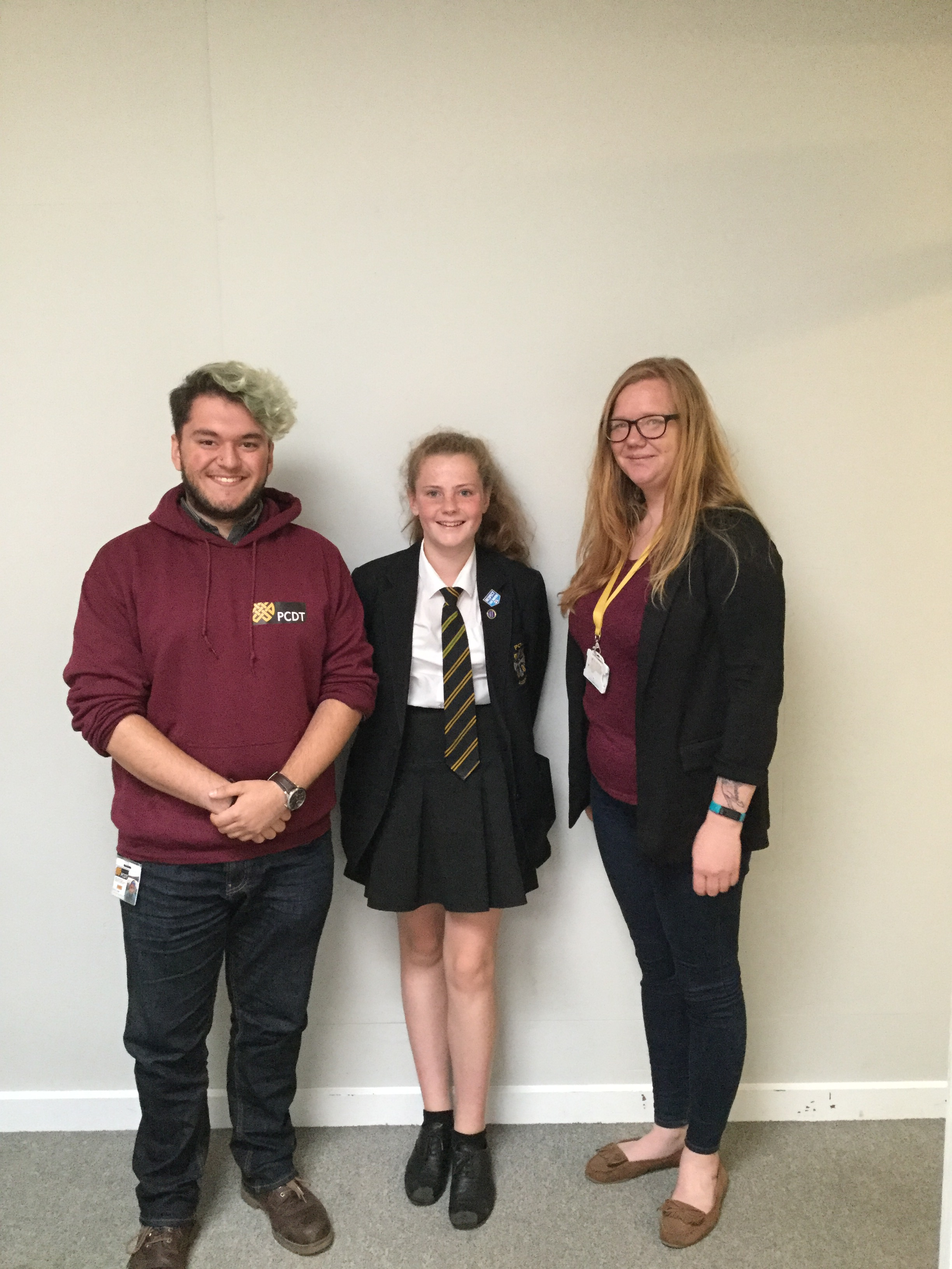 Milly with Kate McArthur and Reece Foster.