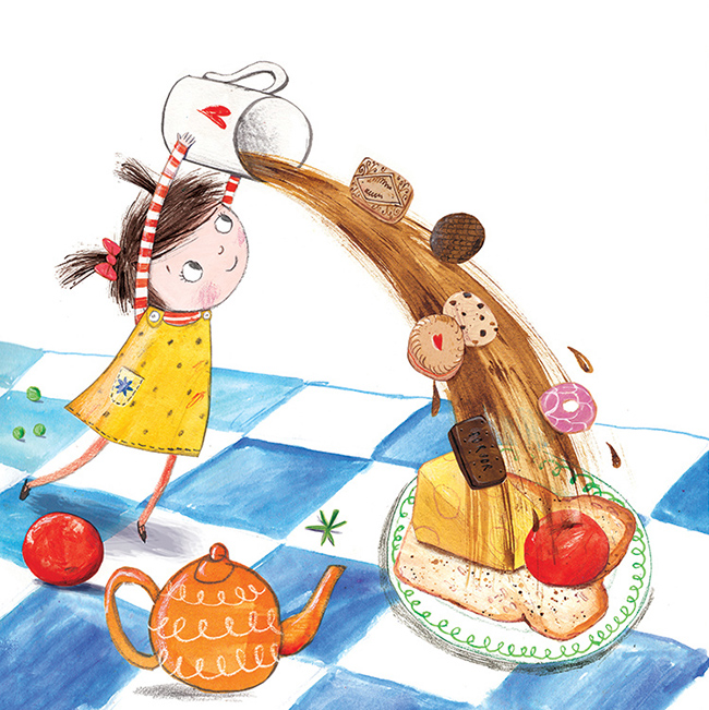 From Daddy's Sandwich, written by Pip Jones and published by Faber & Faber.