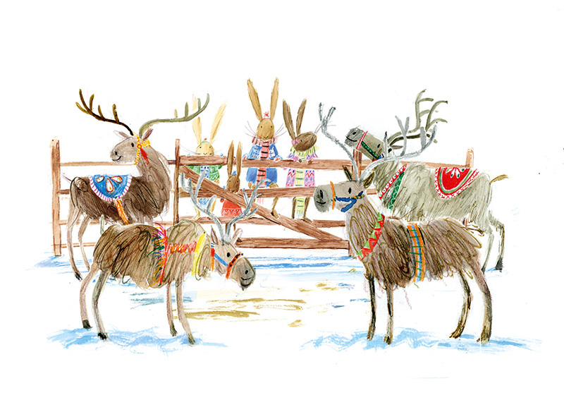 From We're going on an Elf Chase, written by Martha Mumford and published by Bloomsbury in October 2018.