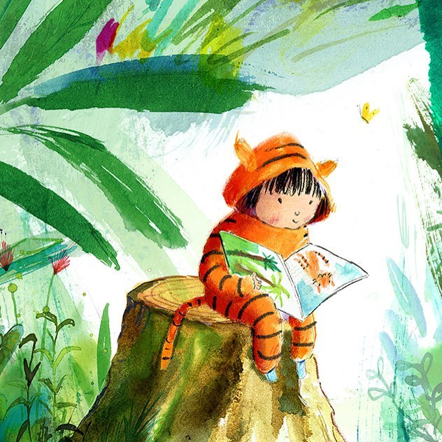 BOOKS! What have you been reading recently? Would love to hear your recommendations? #childrensillustration #tiger #inks