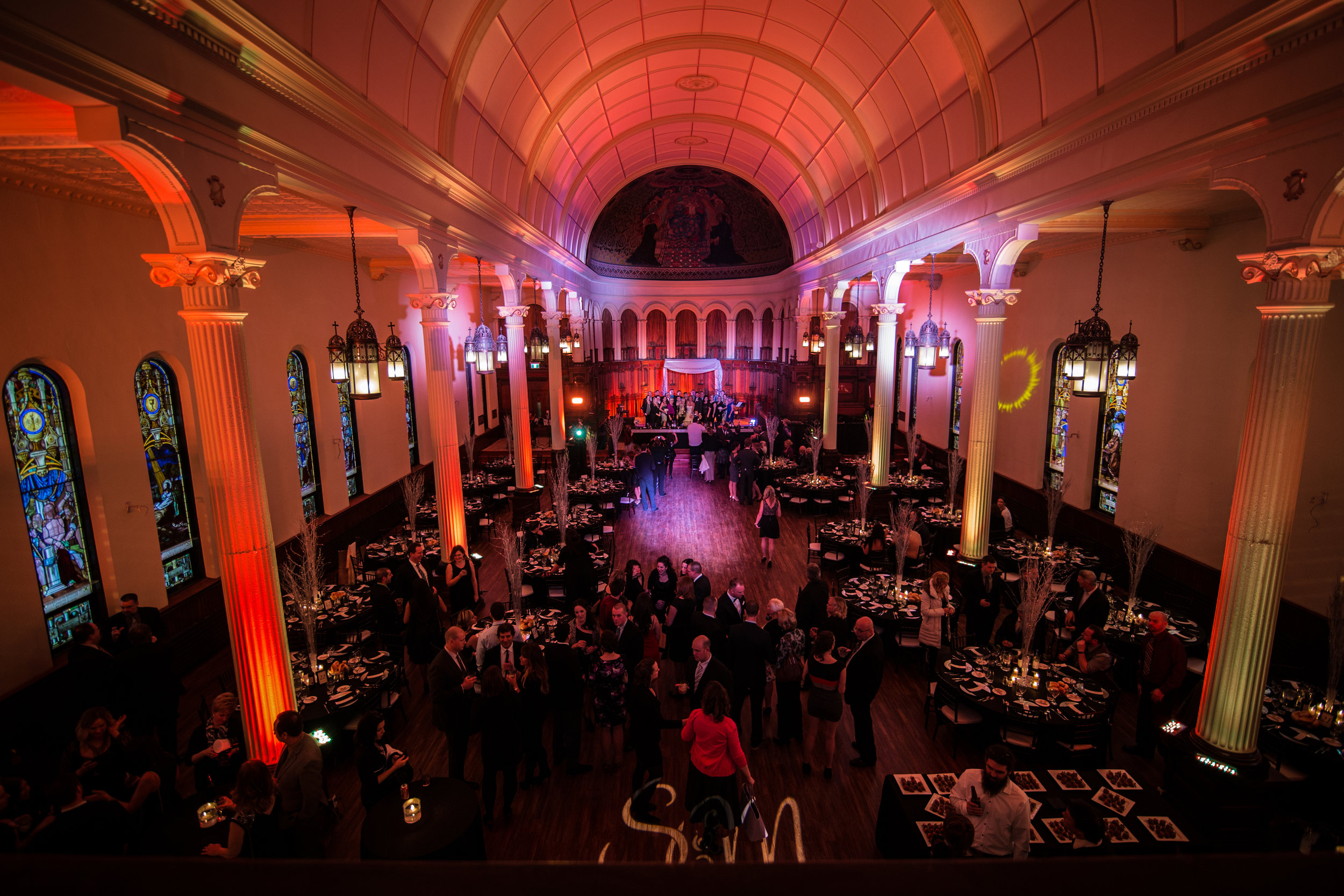 The Grande Ballroom at Water's Edge Event Centre in Windsor, ON