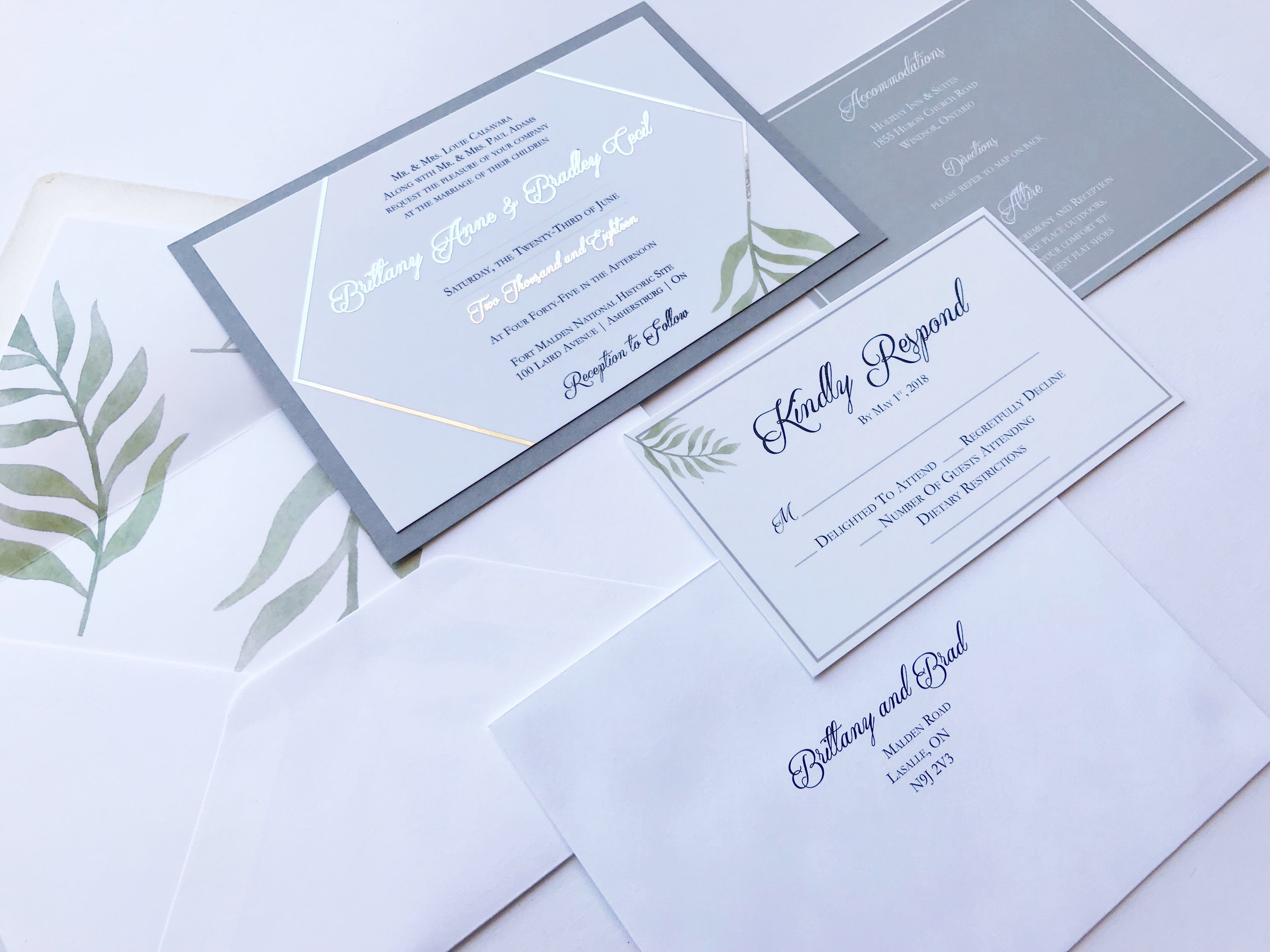 Invitation Suite Courtesy of  Elle & Em Event Design