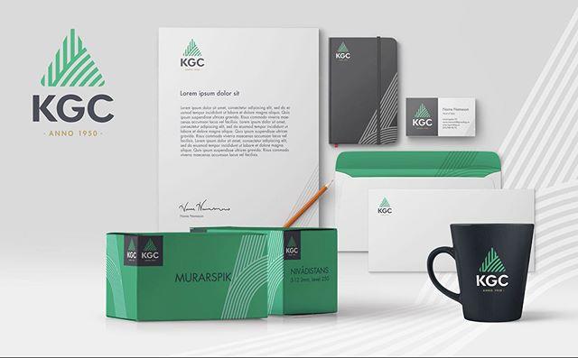 KGC- Building a builder's brand. Vi fick i uppdrag att uppdatera både varumärkesplattform och grafisk profil. Logotypen som inspirerats av murarhantverket med murarsleven som bas. #grafiskprofil #kgc #kommunikation #design #agency #outhouse
