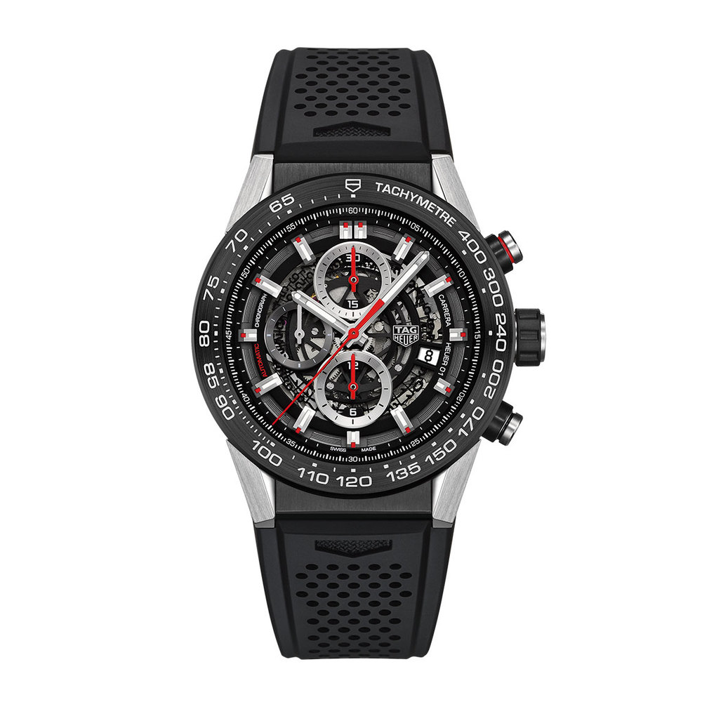 The  TAG Heuer Carrera Heuer-01  is a firm favourite of ours.