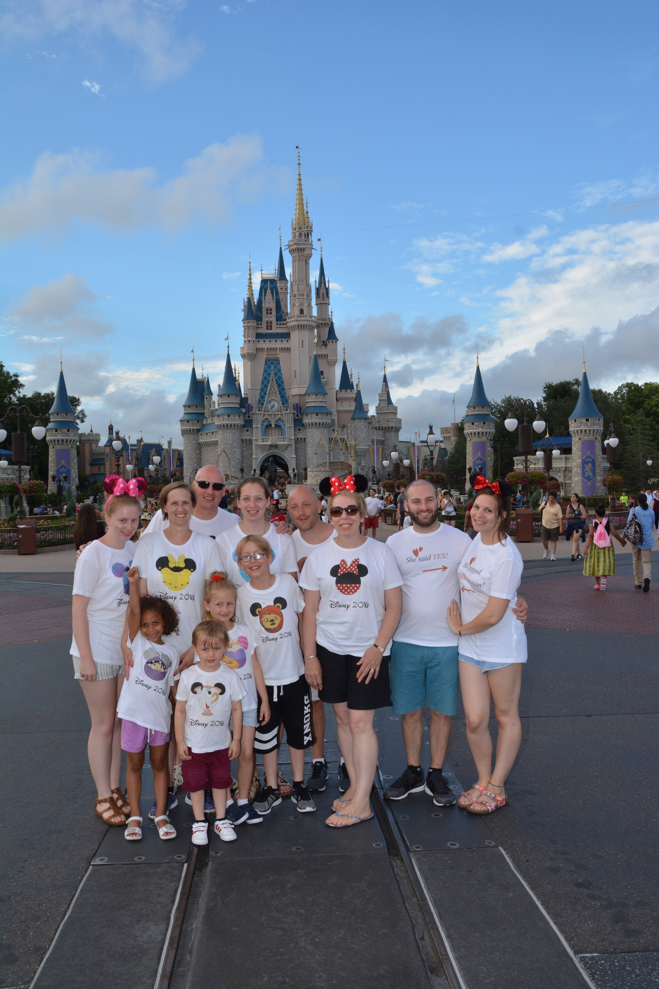 Lewis, Jess and Jess' family, on their magical trip to Disneyland Florida.
