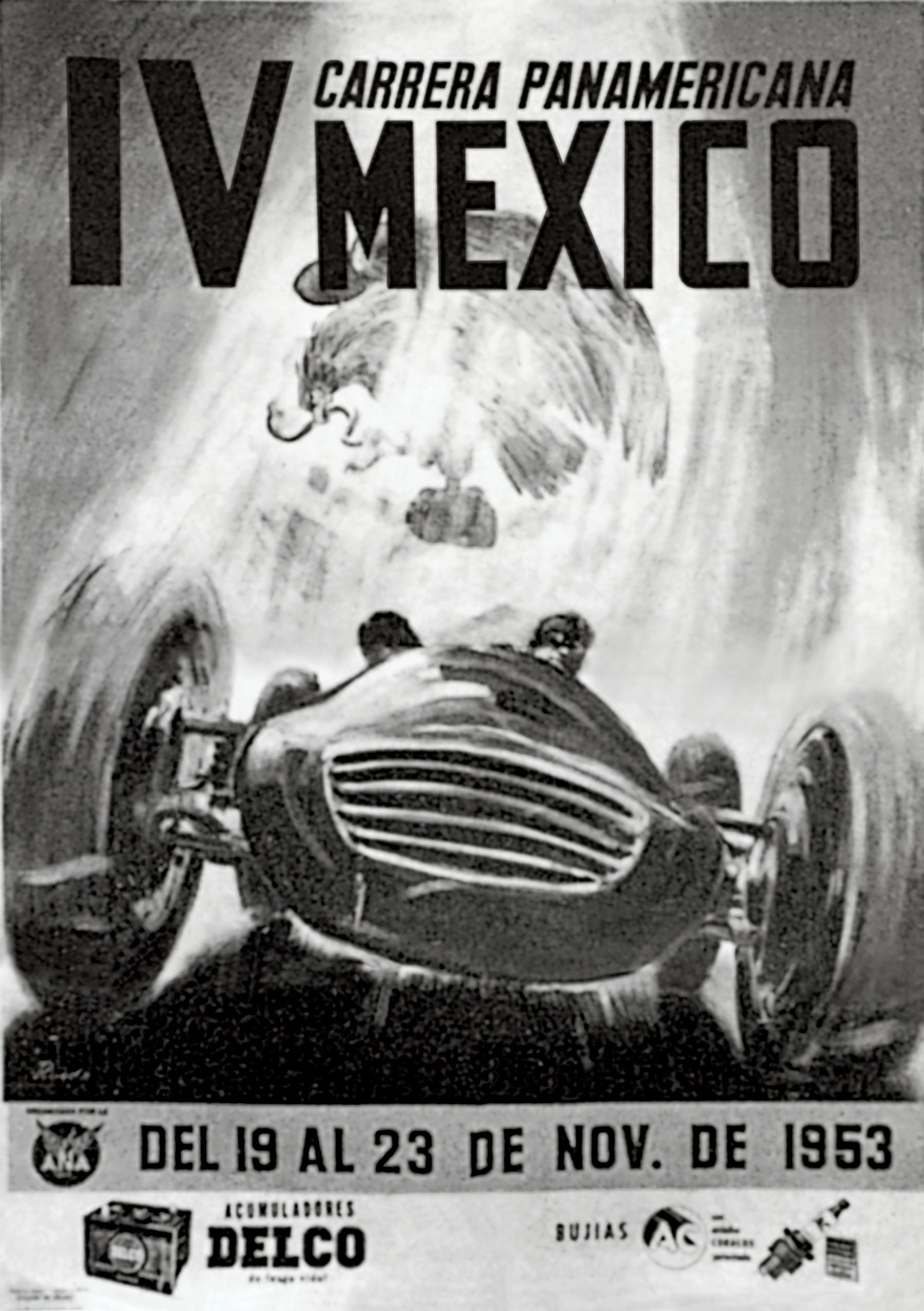 A poster for the 1953 Carrera Panamericana Rally in Mexico, a race which helped inspire the birth of the  TAG Heuer Carrera .