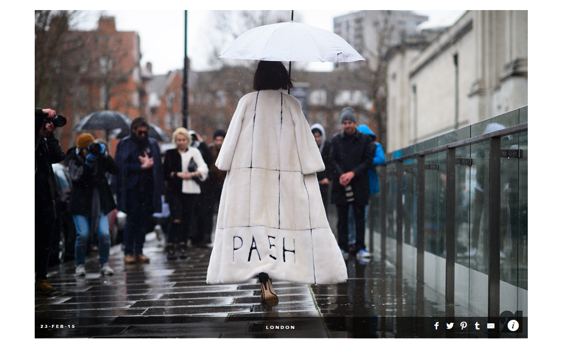 VOGUE.CO.UK    PA5H On   Vogue Street Chic  During The London Fashion Week,Febrary 2015