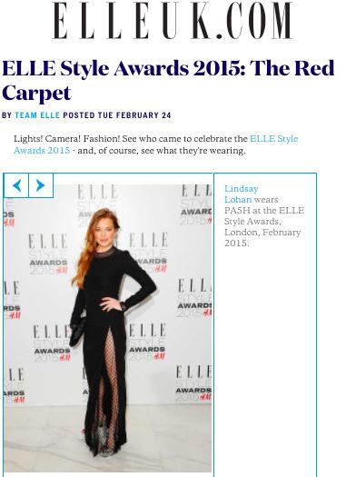 ELLE.CO.UK    Elle Style Awards 2015: The Red Carpet