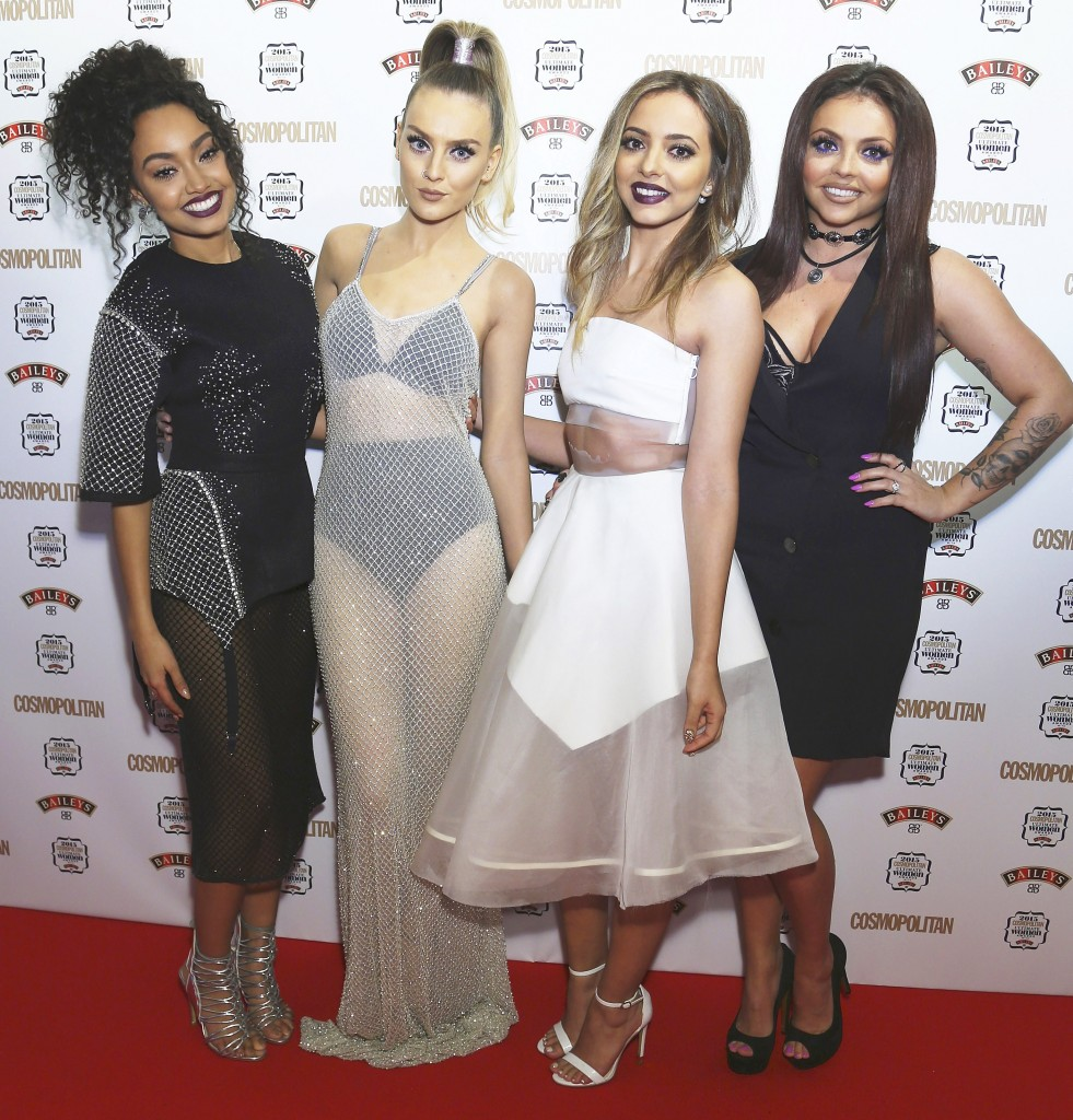 Ultimate Women of the Year Awards, December 2015.   Perrie Edwards and Leigh-Anne Pinnock wearing PA5H.