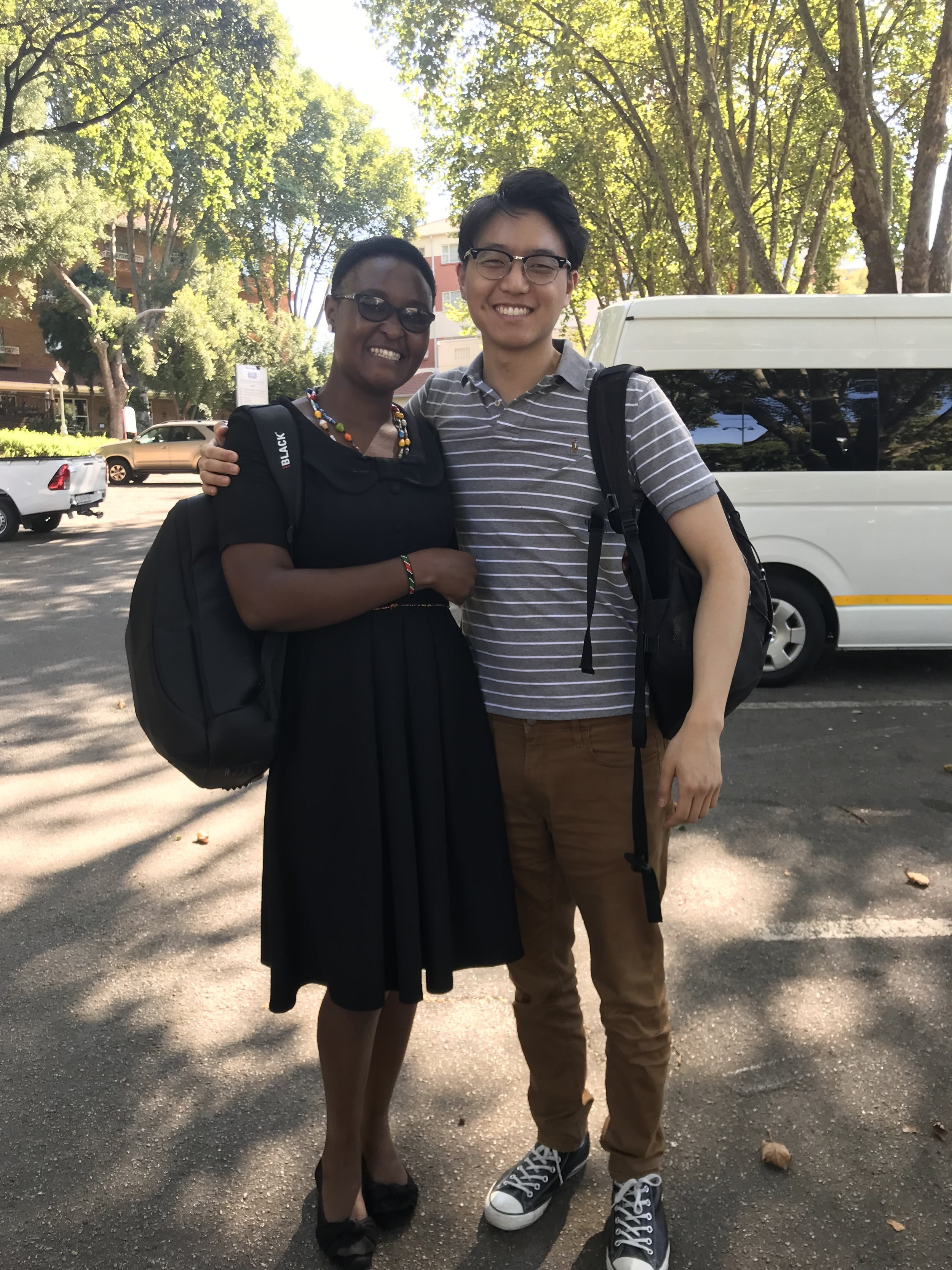 "Edna Bosire and Andy Kim, working hard with me to set up the ""Soweto Syndemics"" NIH Fogarty International Center Study in Johannesburg, South Africa."
