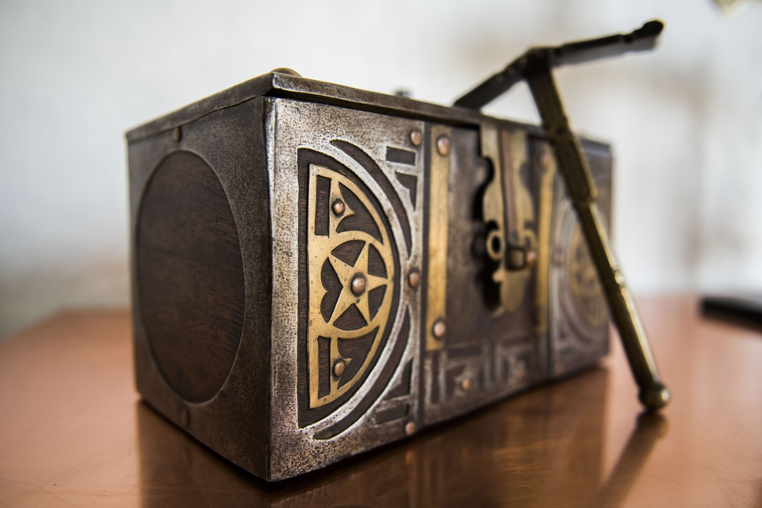 19th century Tuareg Tea Box, YSWARA Tearoom Private Collection