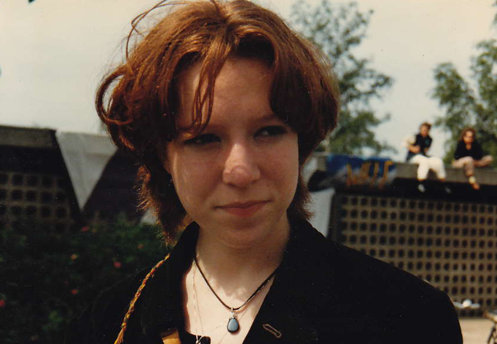 Me at my high school, age 18.